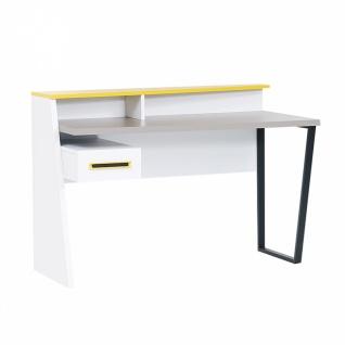 Design Schreibtisch in Weiß Grau Gelb Vector