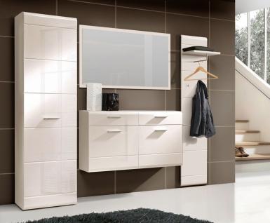 Garderoben Set Simone 4-teilig in Weiß