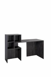 Schreibtisch Pearl Black mit offenen Fächern