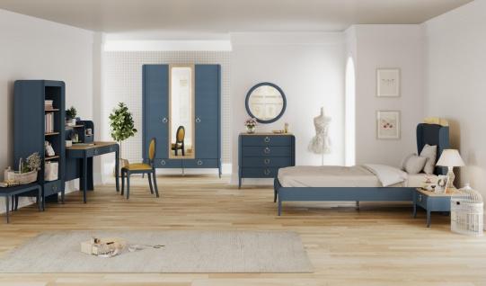 Jugendzimmer komplett Elegant Blue 7-teilig