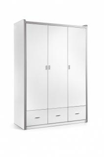 Bonny Kleiderschrank 3-türig in Weiß