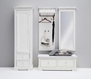 Olio Garderobenset 4-teilig in Kiefer weiß Sanded