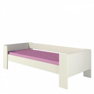 Kinderbett 80x190 in Creme Rosalia inklusive Lattenrost