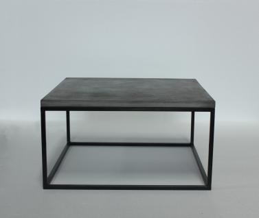 Couchtisch Camant 80x80 aus Beton mit Schwarz