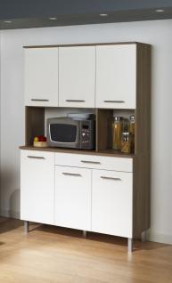 Küchenbuffet Pamina in Weiß / Akazie