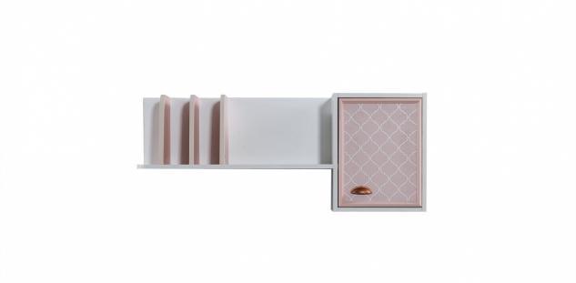Schreibtischaufsatz Diane in Weiß / Pink