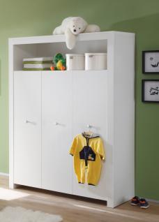Kleiderschrank Rory 3-türig in Weiß