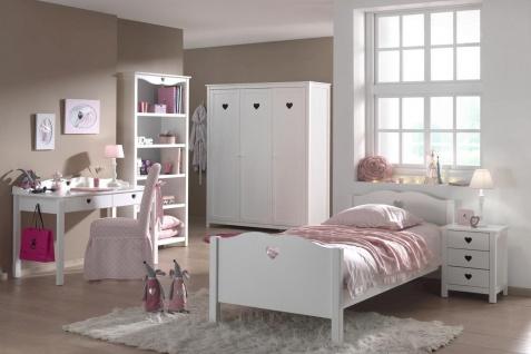 Kinderzimmer komplett Set Albin 5- teilig in Weiß MDF
