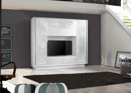 Wohnwand in Weiß mit Floraldruck Heaven 1-teilig