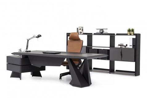 Ovali Schreibtisch Set 3-teilig Origami l Schwarz