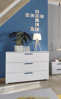 Design Kommode Space mit Griffen in Blau