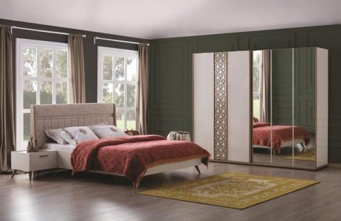 Schlafzimmerset mit Schwebetürschrank Mansat Weiß