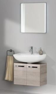 Badezimmermöbel Graueiche Verena mit Spiegel