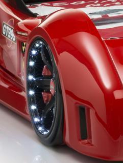 Autobett GT 999 Rot mit Türen und Chrom Felgen - Vorschau 3