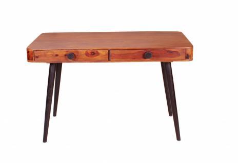 Schreibtisch Button 120x60 mit 2 Schubladen Sheesham