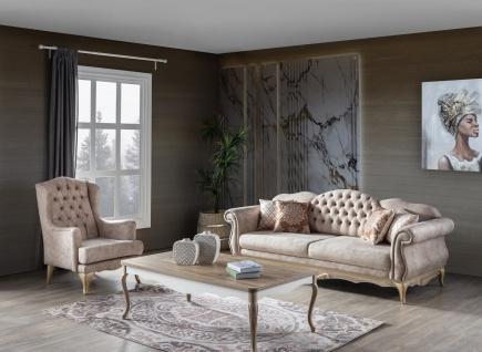Weltew Sofa Set Balat 3-teilig mit Ohrensessel