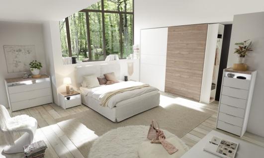 Hochkommode Weiß Nussbaum hell Full Luana - Vorschau 2