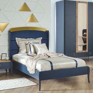 Almila Design Jugendbett Elegant Blue 120x200 cm