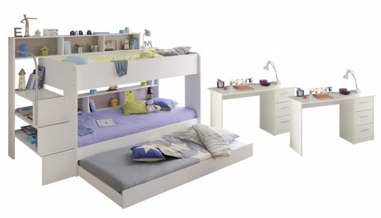 Parisot Etagenbett Bibop mit Bettschubkasten in Weiß