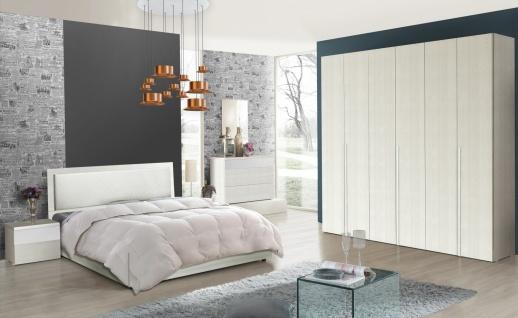 Schlafzimmer Serie Soraja Creme Weiß 4-teilig 160x200 cm / creme/weiß