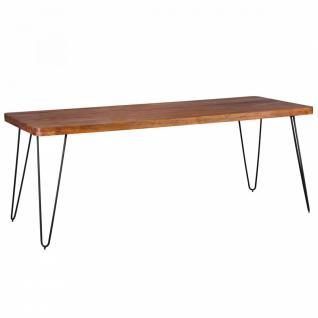 Massivholz Sheesham Esstisch 200x80x76 Küchentisch - Vorschau 1