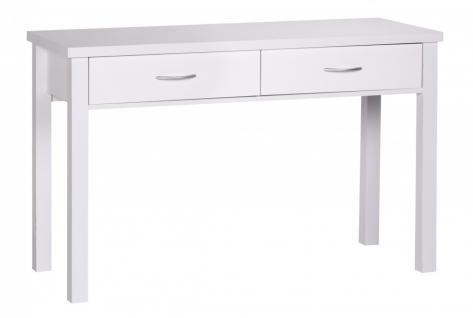 Schreibtisch Sam Weiß mit 2 Schubladen 120 cm