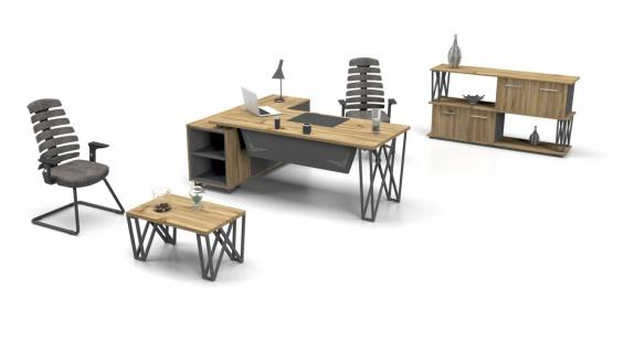 Büro Schreibtisch in L-Form Window 180x80 - Vorschau 2