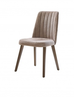 Lidya Esstisch Stuhl Tower gepolstert mit Echtholz Beinen