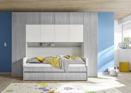 Stauraumwunder Bett mit Bettbrücke Space