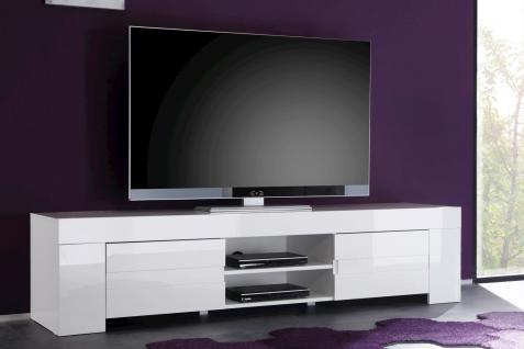 TV Unterschrank IOS Hochglanz weiss
