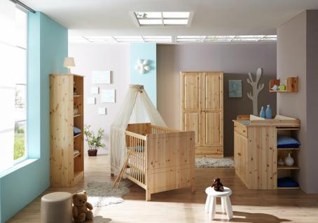 Babyzimmer Kiefer massiv Suny 5-teilig in zwei Farben