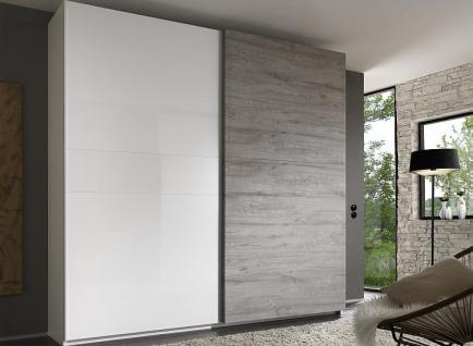 Schwebetürenschrank weiß grau  Schwebetürenschrank Weiß Grau günstig online kaufen - Yatego