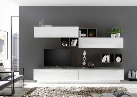 Wohnwand Kombination Veldig in Weiß Ossido 8-teilig
