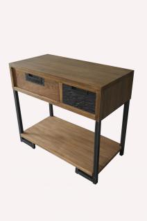 Beistelltisch Teak 90x45 Itiner mit 1 Schublade - Vorschau 1