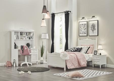 Almila Jugendzimmer komplett Set Lory in Weiß 4-teilig