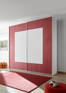 Schwebetürenschrank Space farbig Rot 179x205