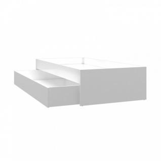 Jugendbett ausziehbar Weiß Double mit Bettkasten