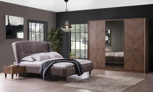 Schlafzimmer-Set mit Stauraumbett 5-teilig Karaca