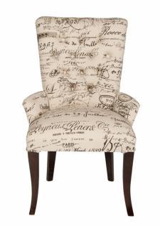 Design Sessel Exclusia mit Vintage Bezug und Antikfinish