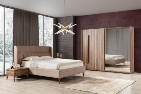 Schlafzimmer mit Stauraumbett Bellin 4-teilig