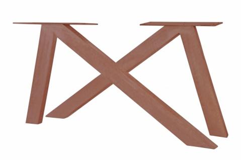 Tischgestell Cibus Asymmetrisch aus Eisen