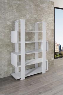 Bücherregal in Weiß Diane mit viel Stauraum