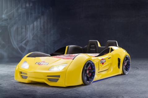 Autobett GT X mit Sportsitzen Gelb