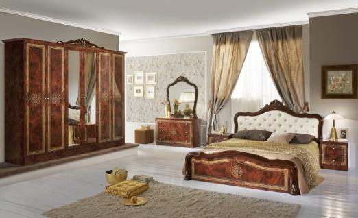 Schlafzimmer in Walnuss Christina mit 6-türigem Schrank
