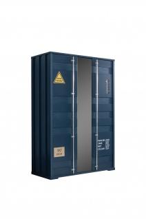 Odacix Kleiderschrank Container 2-türig in Blau