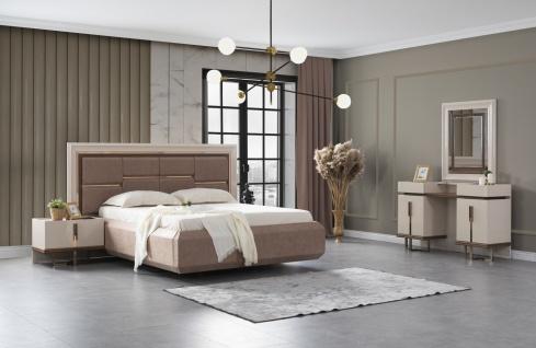 Lidya Schlafzimmer Set mit Stauraumbett in 160x200 cm