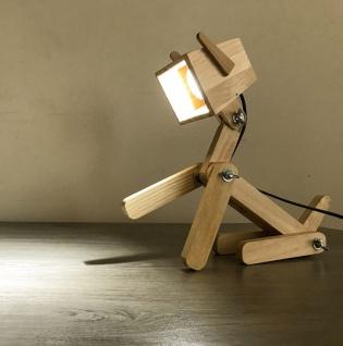 Schreibtischlampe aus Mssivholz Fox