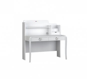 Almila Schreibtisch Elegant White mit LED