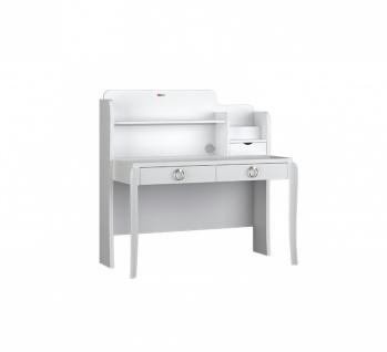 Design Schreibtisch Elegant White mit LED und USB