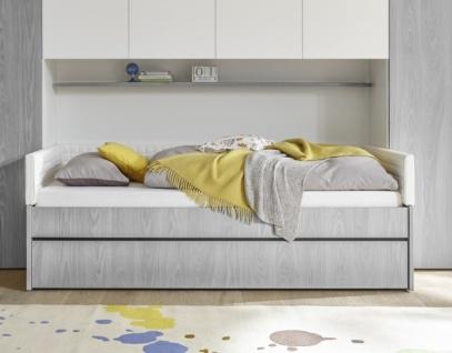 Jugendbett Space ohne Polsterung Grau 90x200